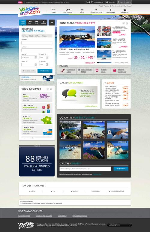 Webdesign : sncf.com et voyages-sncf.com se renouvellent > Creanum