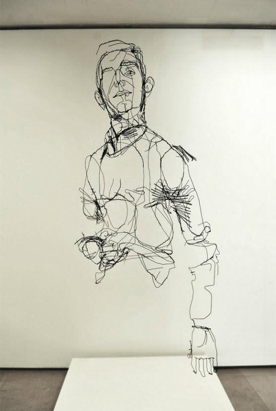 Les sculptures « filaires » de David Oliveira > Creanum