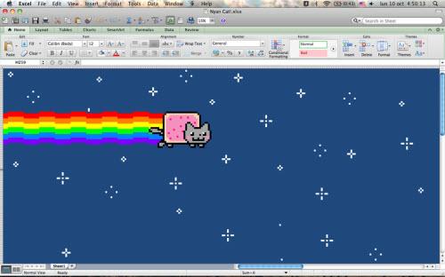 De superbes créations réalisées avec? Microsoft Excel ! > Creanum