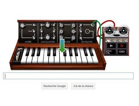 Le Doodle de Google rend hommage au père du synthétiseur en HTML5 > Creanum