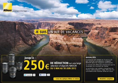 Nikon rembourse jusqu'à 250 euros sur des objectifs Nikkor > Creanum