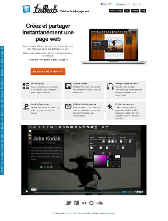 Talkab v2 : bloguer sans blog, et bien plus !  > Creanum