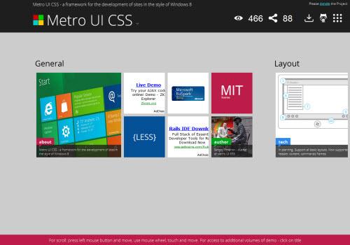 Metro UI CSS : toute l'interface de Windows 8 en CSS ! > Creanum