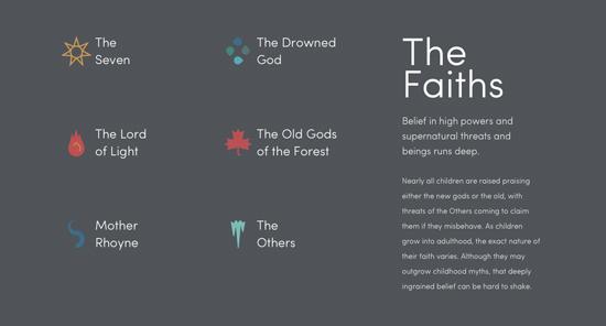 Infographies : le monde de Game of Thrones sur une page Web  > Creanum