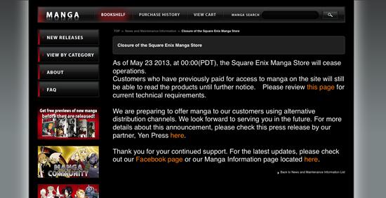 Square Enix stoppe sa publication de mangas en ligne > Creanum