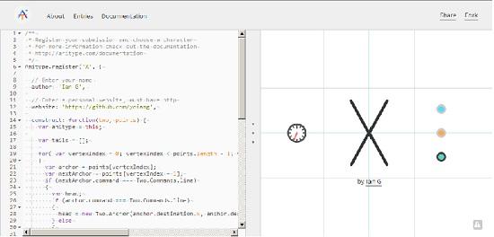 Anitype : un outil pour animer la typographie > Creanum
