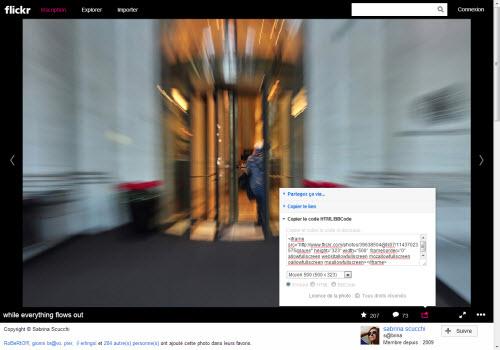 Flickr dévoile un outil d'intégration Web  > Creanum
