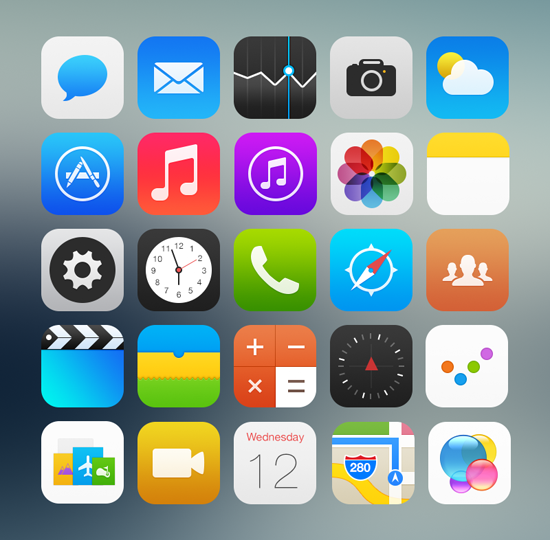 iOS 7 dans un monde parallèle  > Creanum