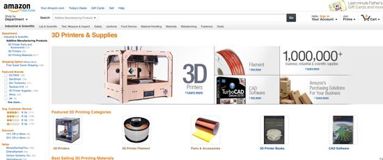 Amazon lance une rubrique consacrée à l'impression 3D > Creanum