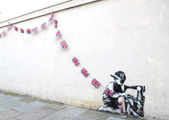 """Slave Labor"" : un graffiti mural de Banksy vendu 1,1 million de dollars > Creanum"