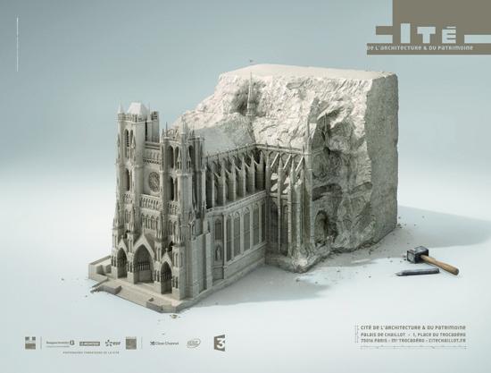 La cité de l'Architecture lance une campagne d'affiches  > Creanum