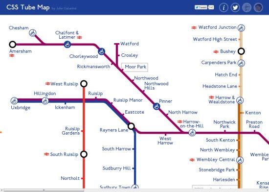 Webdesign: une carte du métro entièrement HTML5 > Creanum