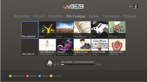 Une application Deezer sur Xbox > Creanum