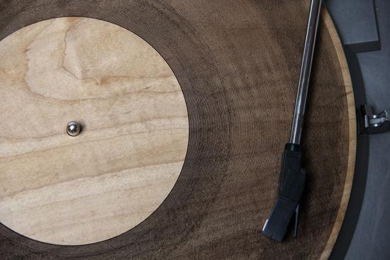Impression 3D : un vinyl en bois à partir d'un MP3... ! > Creanum