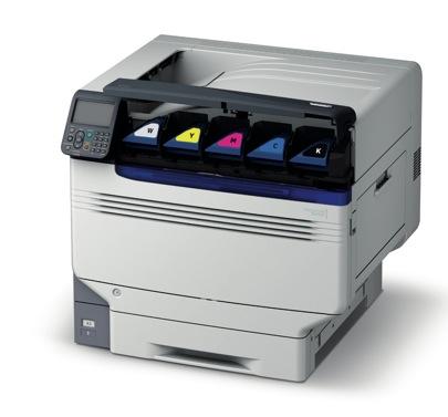 OKI ES9541 : imprimante couleurs CMJN et? blanc !  > Creanum