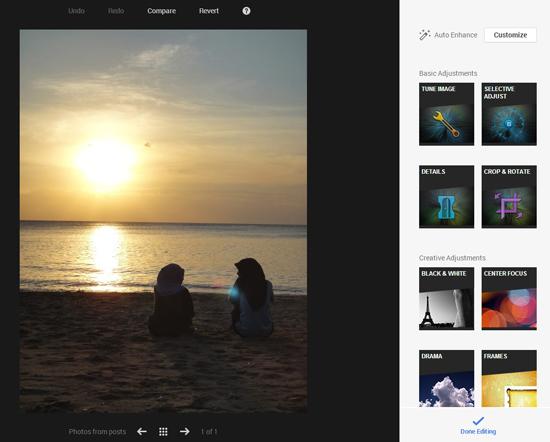 Google+ se lance dans les filtres photo façon Instagram > Creanum