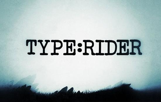 Type:rider, un jeu vidéo typographique   > Creanum