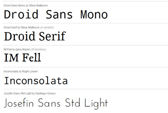 Google, Adobe... la typographie en danger ?  > Creanum