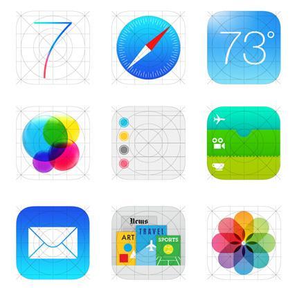 Les icônes d'applications iOS 7 vont devoir se mettre à jour > Creanum