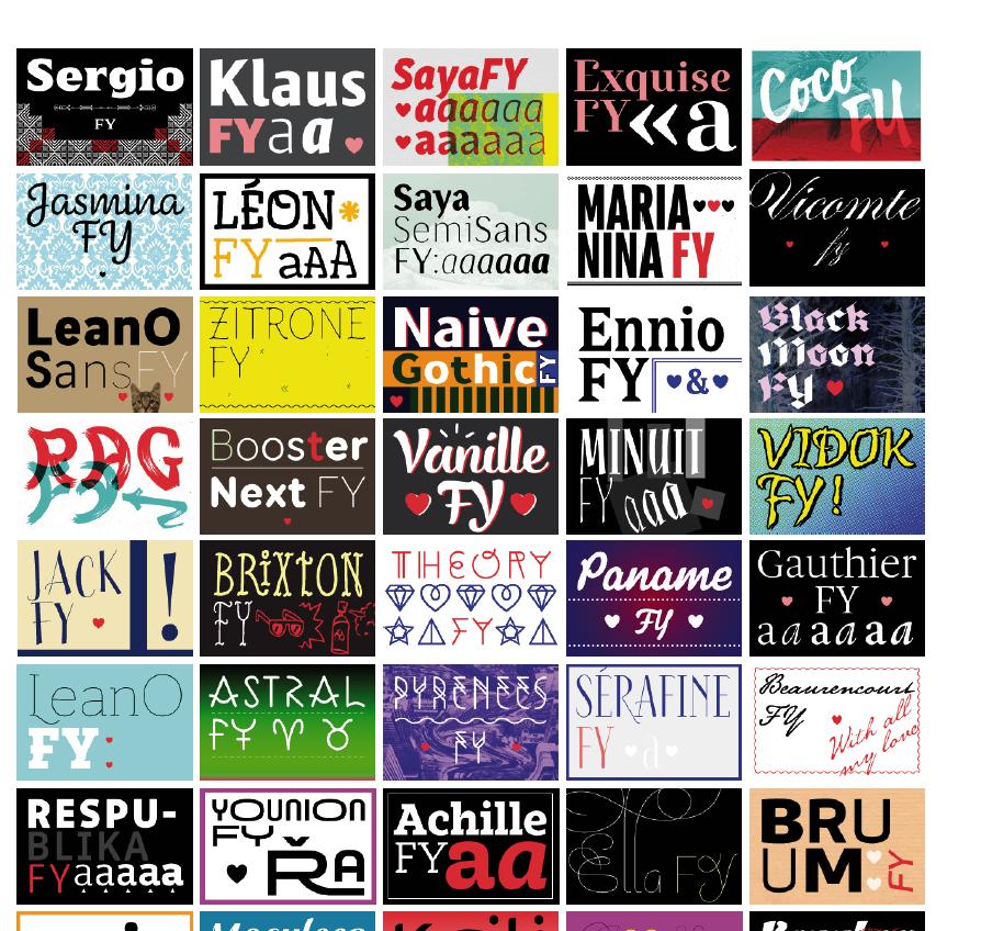 Créer, partager, vendre et acheter des polices de caractères sur Fontyou > Creanum