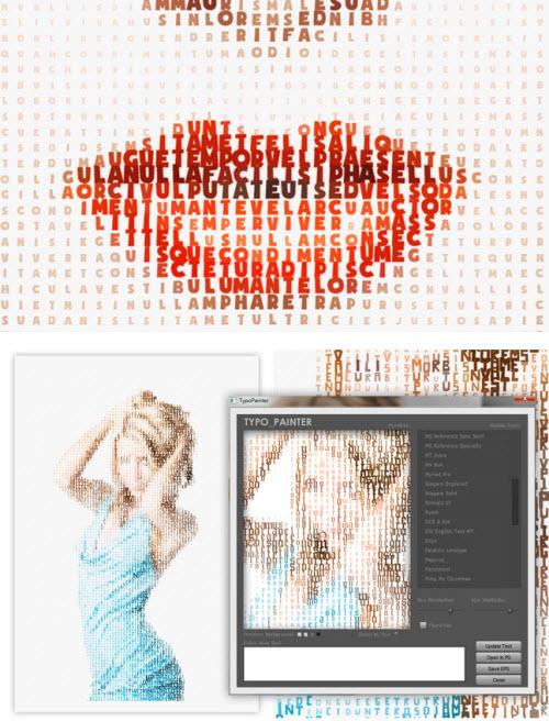 Typo-painter : plugin Photoshop pour des illustrations typographiques > Creanum