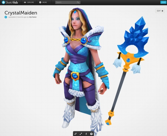 Sketchfab: une nouvelle version et plus de 100 000 modèles 3D en ligne > Creanum