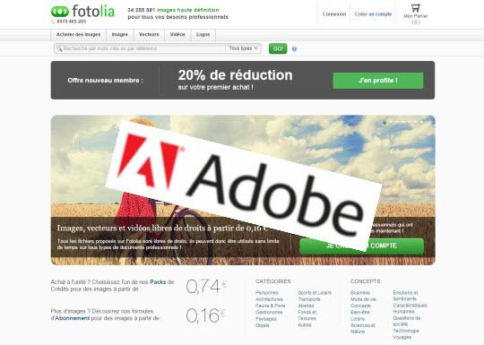 Adobe achète Fotolia et l'intègre au Creative Cloud > Creanum