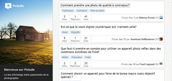 Picbulle: un site pour débuter la photo > Creanum