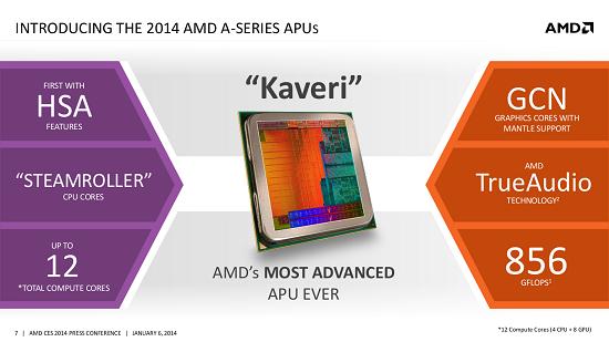 CES 2014: AMD annonce Kaveri, son nouvel APU > Creanum