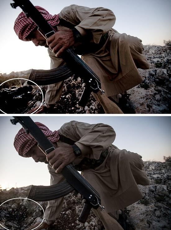 Un photographe d'Associated Press licencié pour une retouche > Creanum