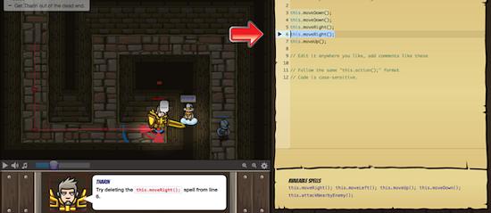 Code Combat: un jeu vidéo pour apprendre le JavaScript > Creanum