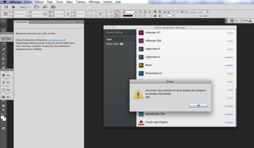 Creative Cloud : une panne empêche d'utiliser les services (MàJ) > Creanum