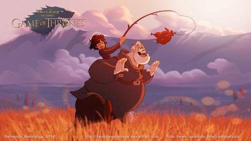 Dessine-moi un Jon Snow: quand Game of Thrones se met à la sauce Disney > Creanum