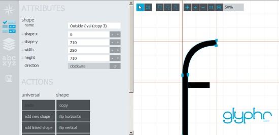 Glyphr Studio: un outil de création typographique en HTML5 > Creanum