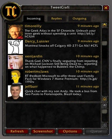 TweetCraft : pour tweeter dans World of Warcraft > Creanum
