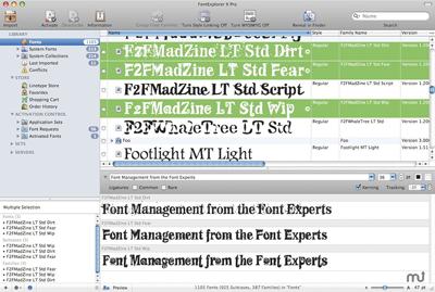 Mises à jour de FontExplorer X Pro et Server