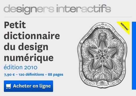 Le petit dictionnaire du design numérique 2010 vient de sortir