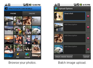 Photoshop.com Mobile 1.2 disponible sur Android  > Creanum