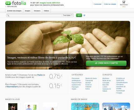 Fotolia dévoile son nouveau site Web > Creanum