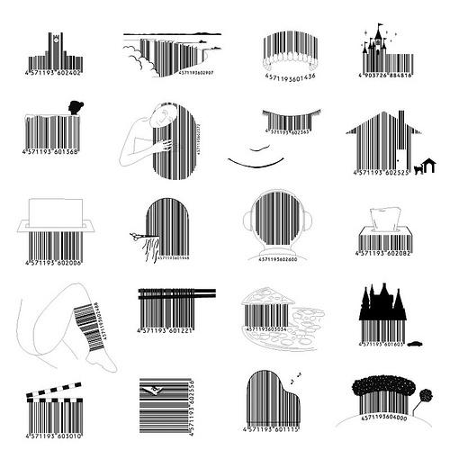 Japon : des codes-barres aux designs très originaux > Creanum