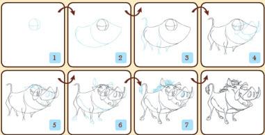Apprenez à dessiner les personnages du Roi Lion > Creanum