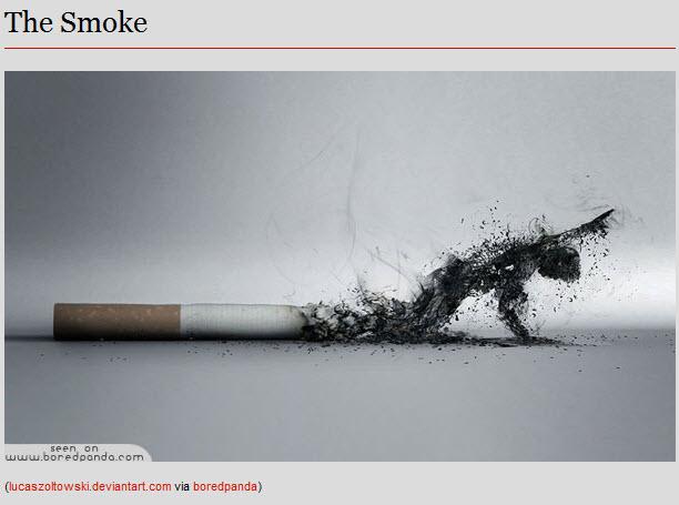 40 publicités anti-tabac > Creanum