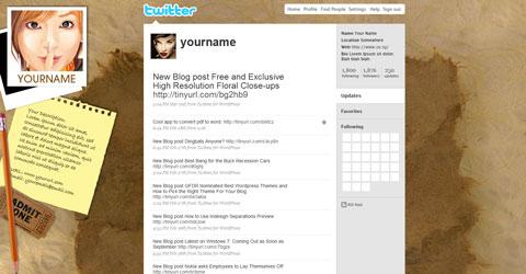 Ressources : 15 templates gratuits pour Twitter, avec fichiers PSD !  > Creanum