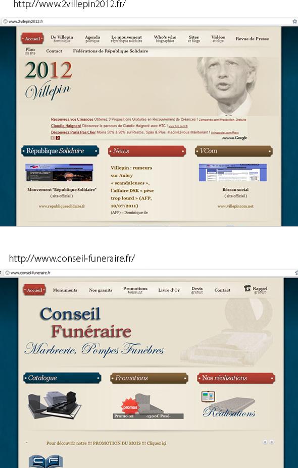 Dominique de Villepin et son site au design « funéraire » > Creanum