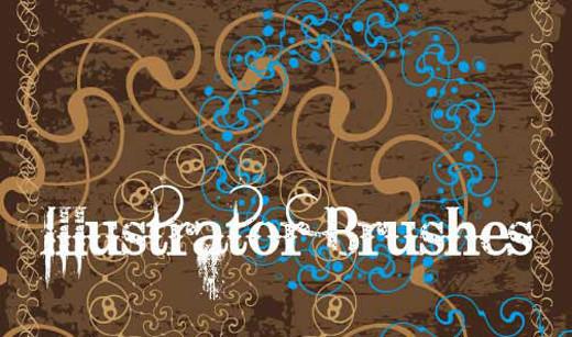 Compilation : 14 brushes pour Illustrator > Creanum