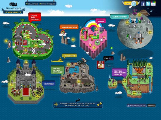 Magnifique site pour l'exposition Game Story au Grand Palais ! > Creanum