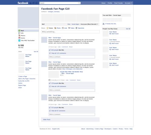 Pratique : un kit GUI en PSD pour les fan pages de Facebook > Creanum