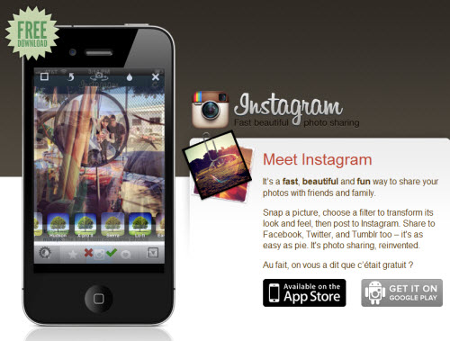 Facebook se paye l'application photo Instagram  > Creanum
