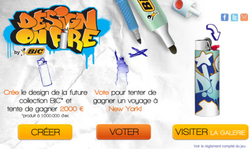BIC lance le challenge « Design on Fire » > Creanum