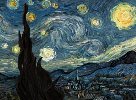 Animation interactive : la nuit étoilée de Van Gogh > Creanum